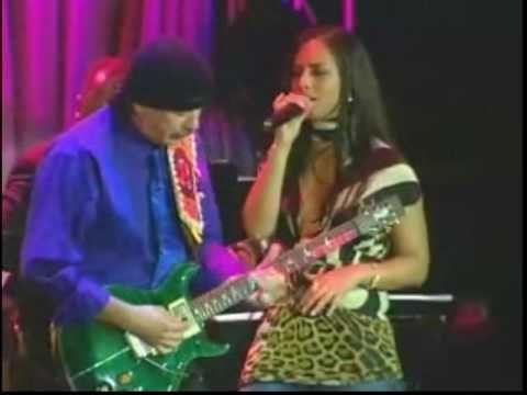 Santana Black Magic Woman Alicia Keys - Alicia with Carlos.  Black Magic Woman - ain't that the truth!