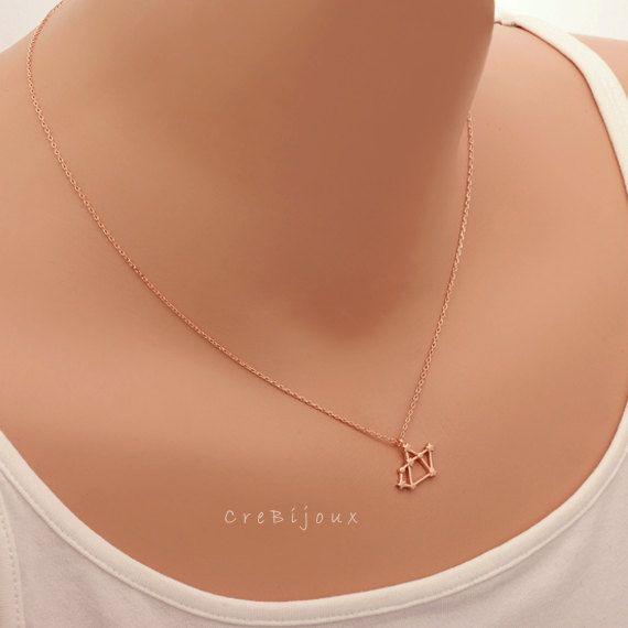 Sagittaire du zodiaque signe astrologie Necklace / collier constellation, novembre, décembre anniversaire collier, collier de Sagittaire / N247