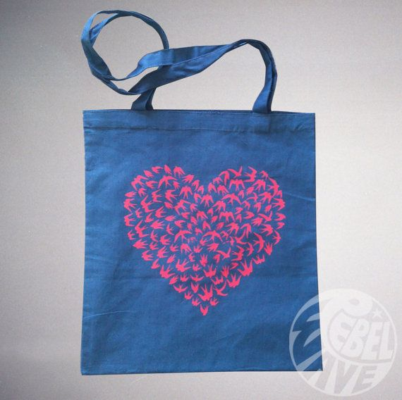 Hey, I found this really awesome Etsy listing at https://www.etsy.com/uk/listing/265331587/valentines-day-heart-birds-love-tote-bag