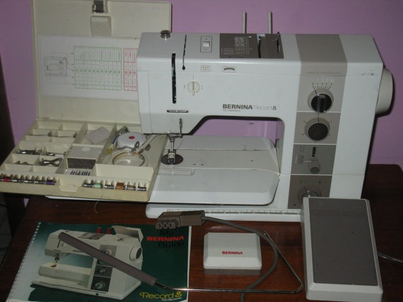 Bernina 930 Record Sewing machine with case and things :). $1,350.00, via Etsy.