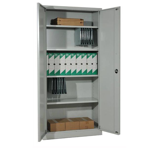 Armoire métallique à portes battantes,monobloc,H195xL92xP42cm