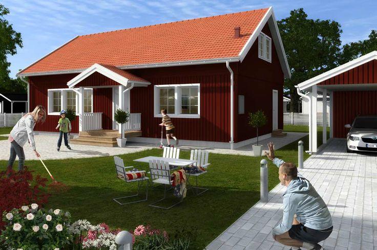 Älvsbyhus modell Lodur 101,5 m² med inredningsbar vind på 53,6 m².
