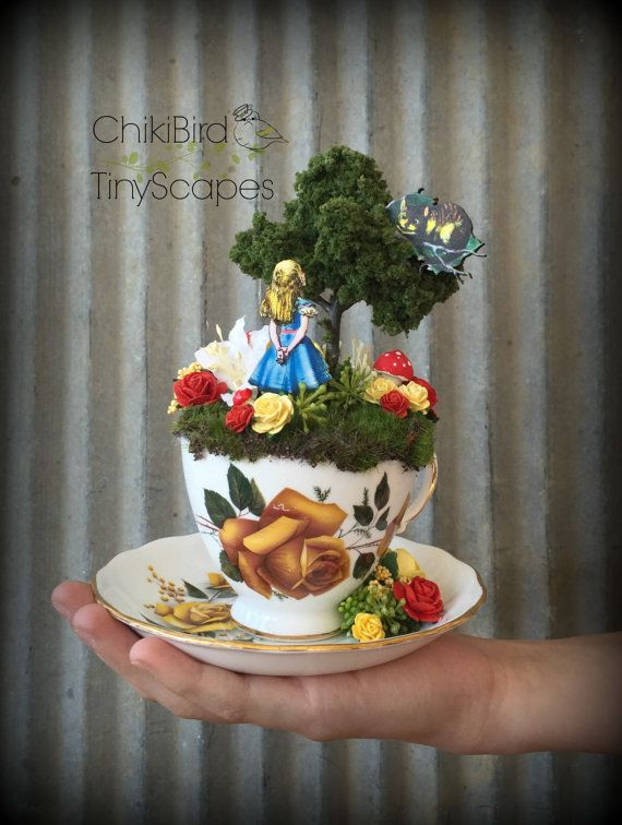1000+ Images About ChikiBird TinyScapes, Tea Cup Fairy