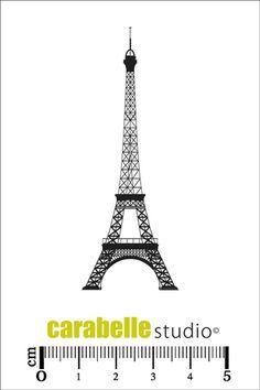 Tampon caoutchouc Tour Eiffel - Art Stamp - Carabelle Studio