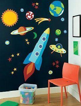 parede azul planetas - Pesquisa Google
