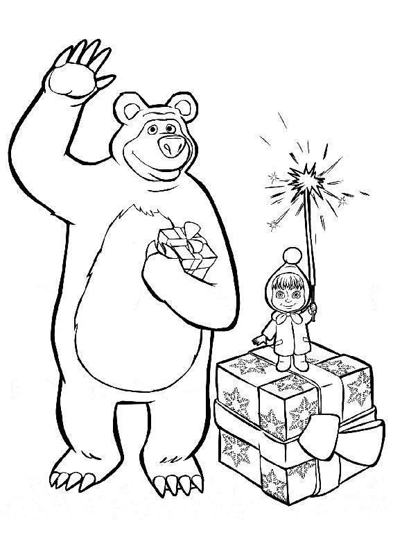 99 Disegni Di Masha E Orso Da Colorare Masha Pinterest Bear