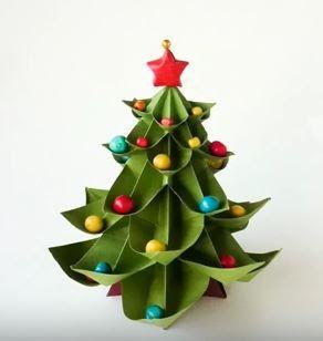 Origami karácsonyfa