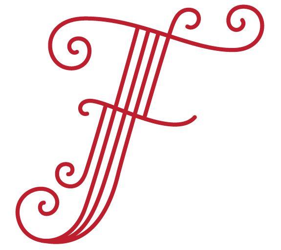 Amazing #Monogramme #Monogram #Lettre #Letter #F