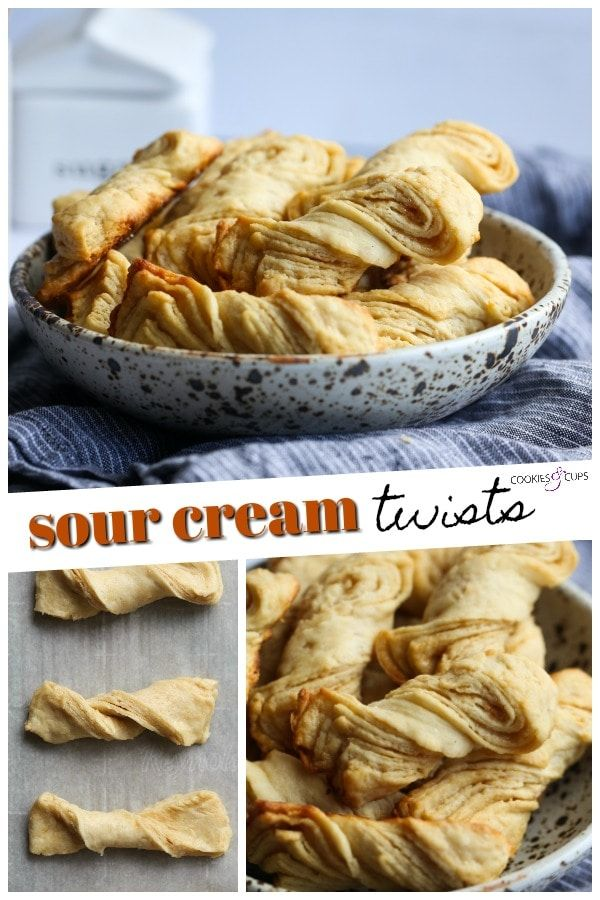 Sour Cream Twists Are A Quick And Easy Pastry Like Treat That Anyone Can Make These Twists Can Be Served W Sour Cream Recipes Sour Cream Homemade Dinner Rolls