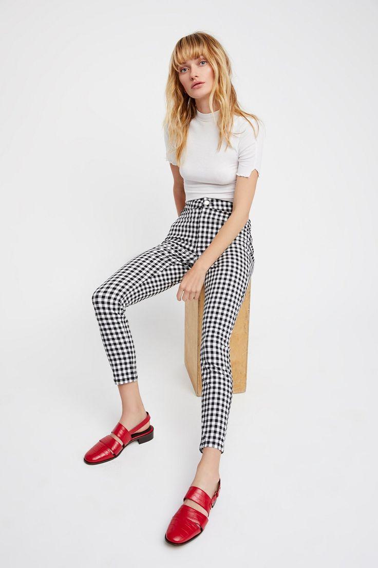 Gingham Skinny Trousers