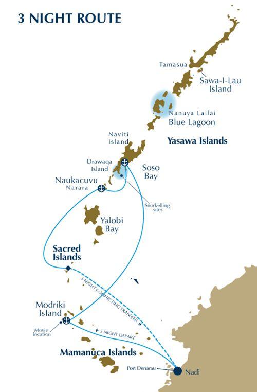 BLC 2016 Map 3 Night Route Web  Fiji Explorer Cruise (Blue Lagoon Cruises)