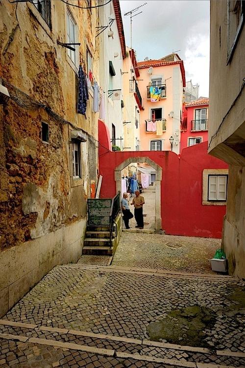 Passage in Alfama, Lisbon