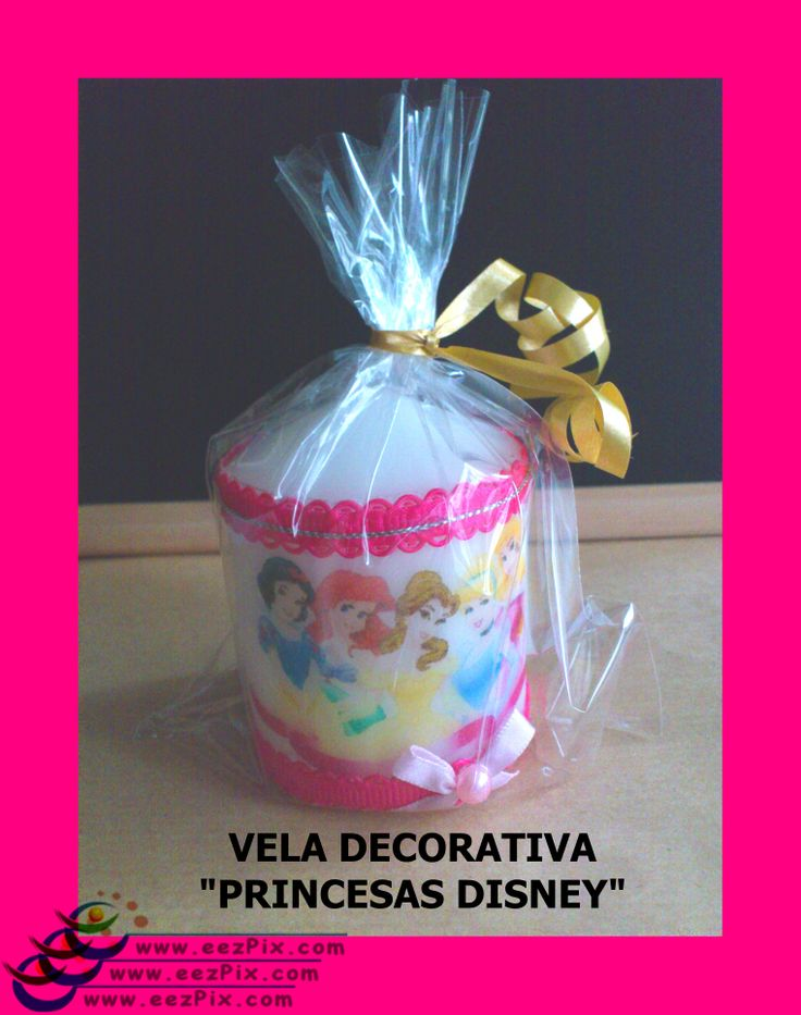 vela decorativa princesas