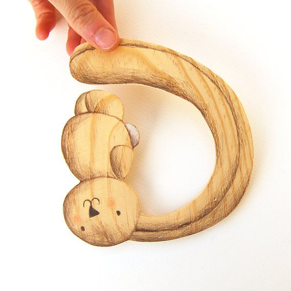 WOODEN Baby Letter HANDMADE letter D. BABY shower gift. by Ciacio