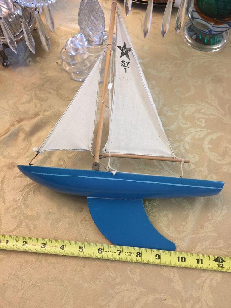 Rare Vintage England Pond Boat Model Ship Birkenhead Star Yacht