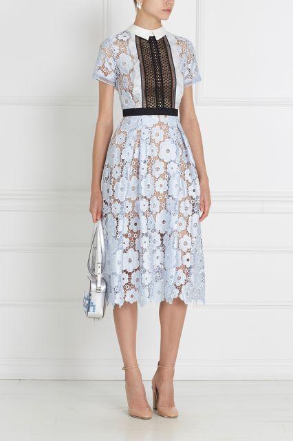 Кружевное платье Self-Portrait - Платье Self-Portrait будто соткано из воздуха в интернет-магазине модной дизайнерской и брендовой одежды
