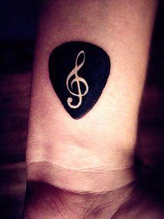 I pick you, music. #guitarpick #tattoo