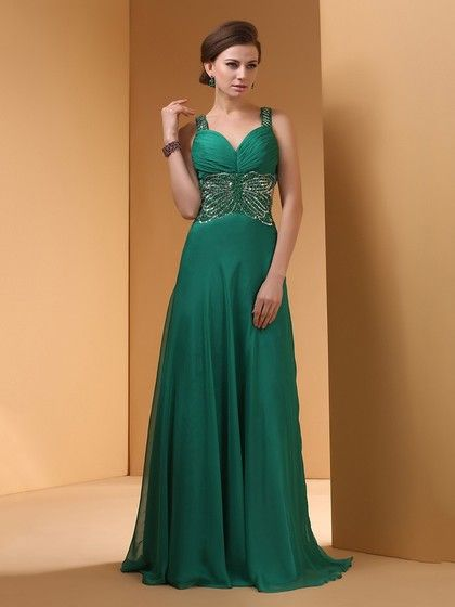 c50896f09cd37 Online Dark Green Chiffon Sweetheart Sequins Open Back Prom Dress $166.49