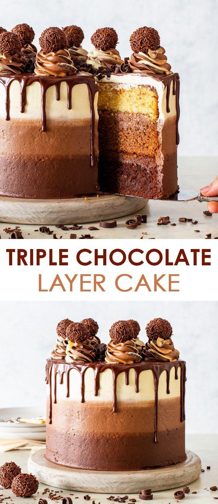 Der epischste dreifache Schokoladenkuchen (glutenfrei) – [SPONSORED] Diese dreifache Schoko …   – Women's fashion