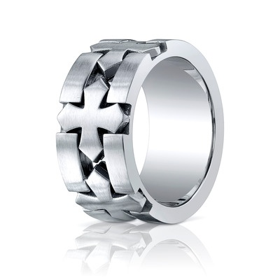 Chrome Men's Wedding Band by Benchmark