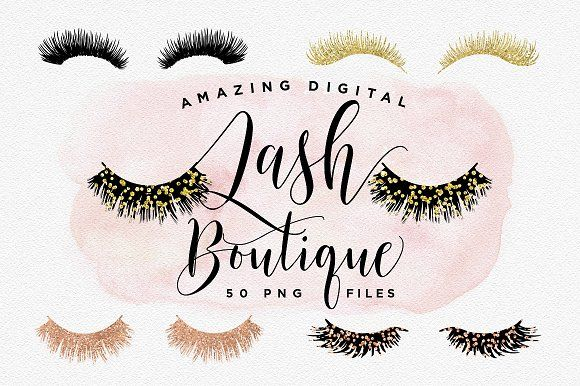Digital Lash Boutique - Eye Lashes by Indie Grace Design on @creativemarket