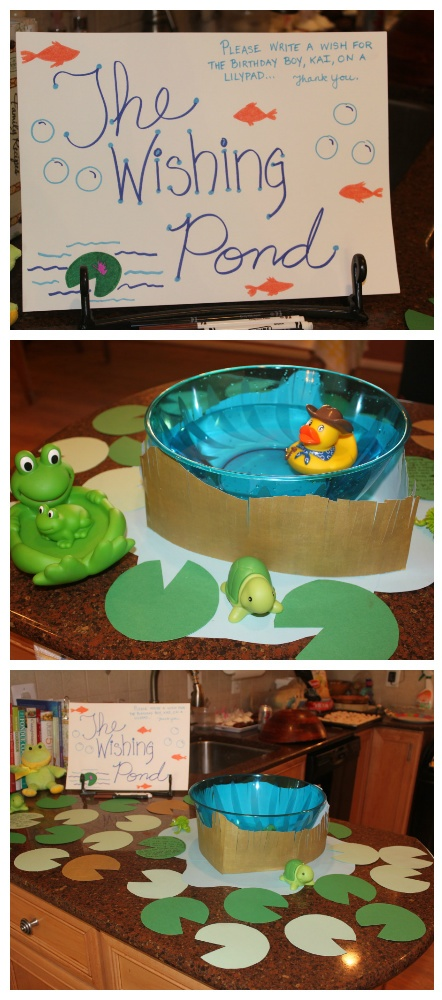 1st Birthday Idea:  Wishing Pond instead of a Wishing Tree.  Write wishes on a lily pad, and toss them in the pond.  Great keepsake...