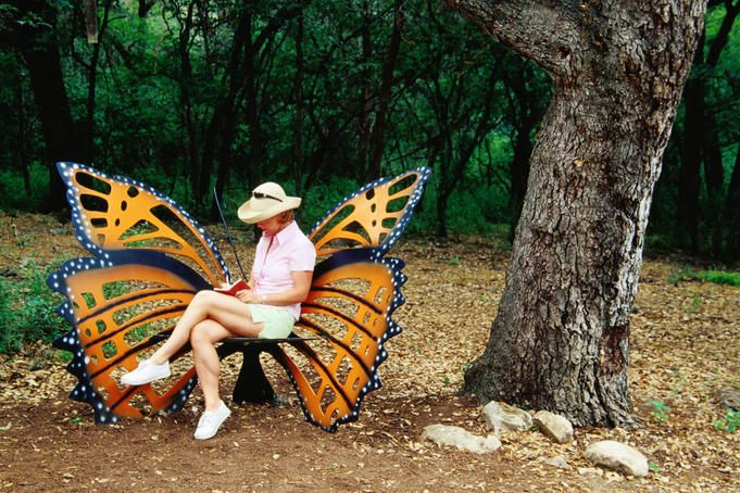Monarch butterfly garden chair