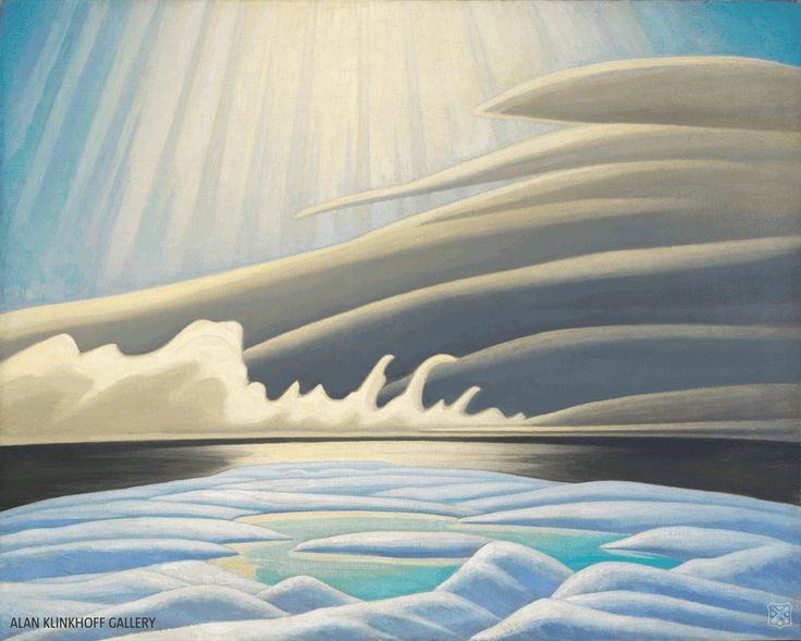 Lawren Harris - Sun Fog & Ice Smith Sound (Arctic Painting IV) 40 x 50 Oil on canvas (1931)