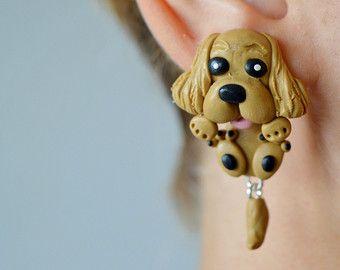 Handmade Poodle Bracelet Necklace Set with Charm Choose Black or Brown Dog Puppy
