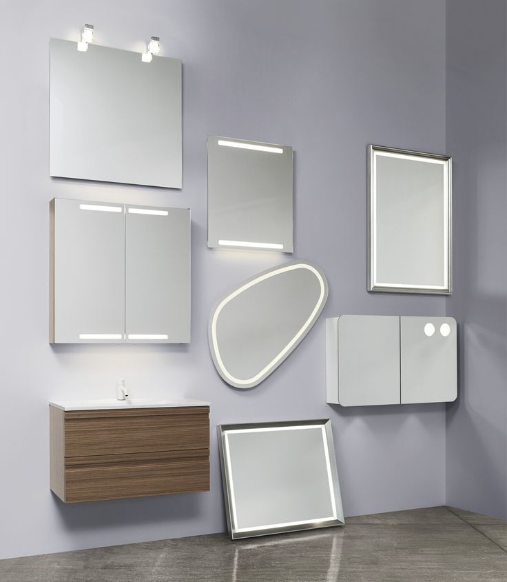 Each of our mirror models are f tted with light sources that provide optimum conditions to give you the finest light when you meet your own gaze in the mirror.