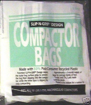"""WC60X5017 Genuine GE 15"""""""" Trash Compactor Bags Slip-N-Grip 12 Bags"""