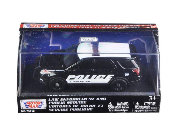 2015 Ford Police Interceptor Utility In Display Showcase 1/43 Diecast Model Car by Motormax - Brand new 1:43 scale diecast car model of 2015 Ford Police Interceptor Utility In Display Showcase die cast car model by Motormax. Rubber tires. Brand new box. Limited Edition. Detailed interior, exterior. Comes in plastic display showcase. Dimensions approximately L-4.5 inches long. Please note that manufacturer may change packing box at any time. Product will stay exactly the same.-Weight: 1…