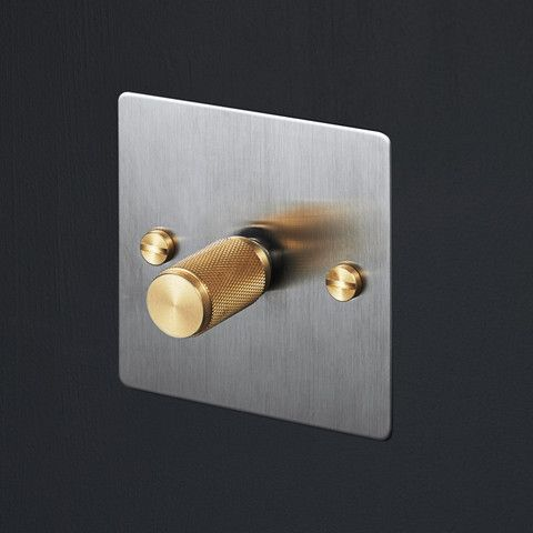 Switches & Dimmers - Steel & Brass. Reminder to Change light switches and maybe sockets