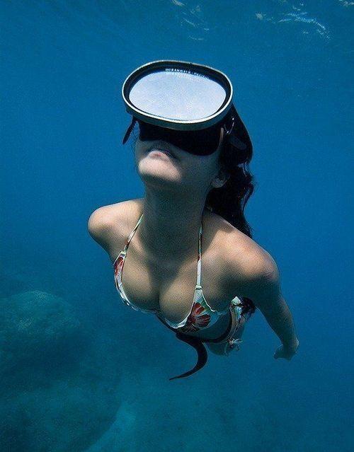 Scuba diving in off HI