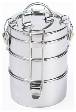 Tiffin Carrier contemporary food containers and storage.