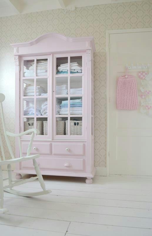 pastel pink cabinet