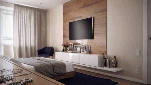 Интерьер в современном стиле. Спальня