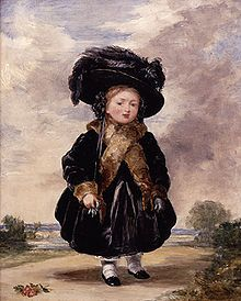 "Princess Victoria, aged four.  Painting by Stephen Poyntz Denning, 1823    The Duke and Duchess of Kent's only child, Victoria, was born at 4.15 am on 24 May 1819 at Kensington Palace in London. She was baptised Alexandrina, after one of her godparents, Emperor Alexander I of Russia, and Victoria after her mother. Victoria later described her childhood as ""rather melancholy""."