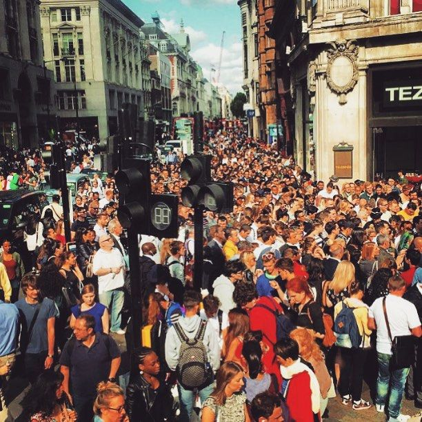 Oxford Circus is pure hell because of the London Tube strike