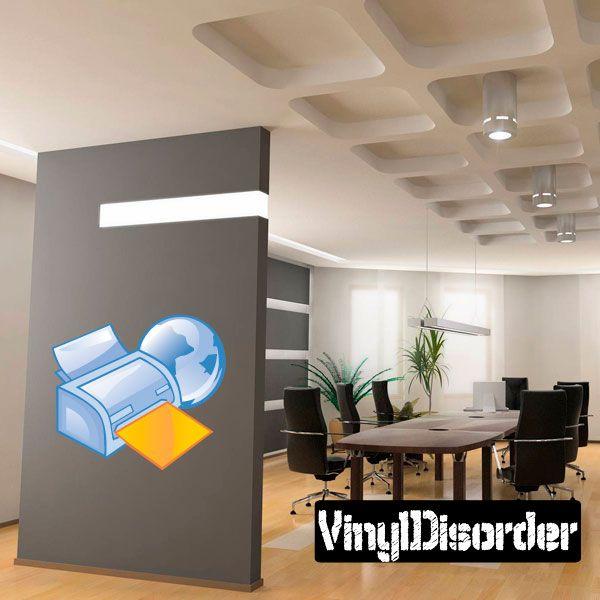 Fax Machine Printer Wall Decal - Vinyl Sticker - Car Sticker - Die Cut Sticker - DC 011