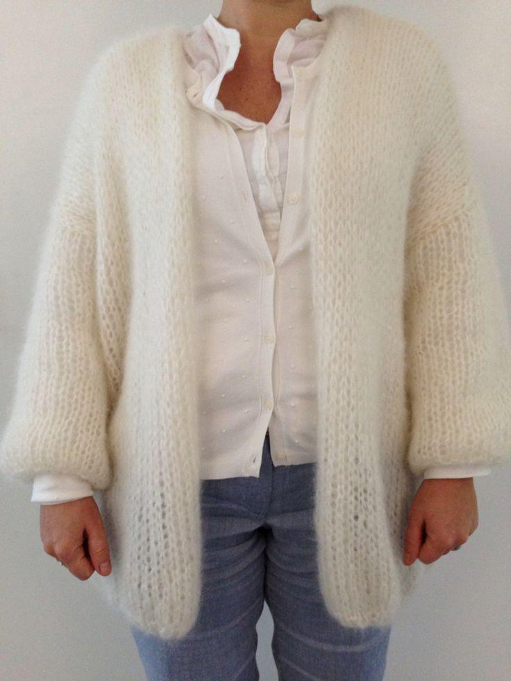 Bernadette vest made by Inge (patroon: de breiboerderij - wol: Drops Kid Silk)