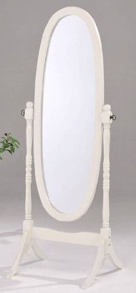 Details about swivel full length wood cheval floor mirror for Wood floor length mirror