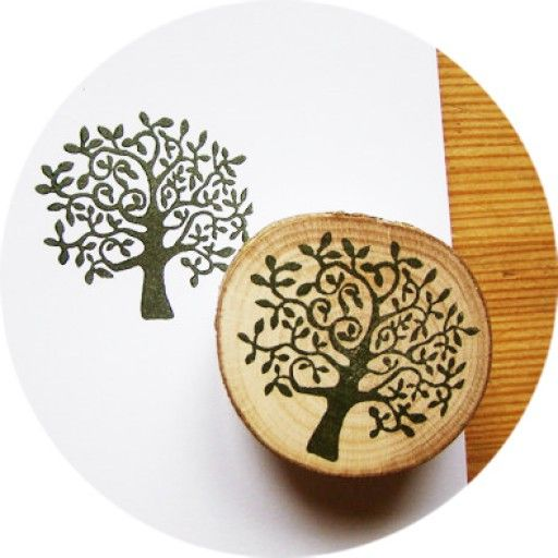 Summer Tree, Hand-carved Rubber Stamp by Scandinavian designer Tian Gan - Nordic Design Collective