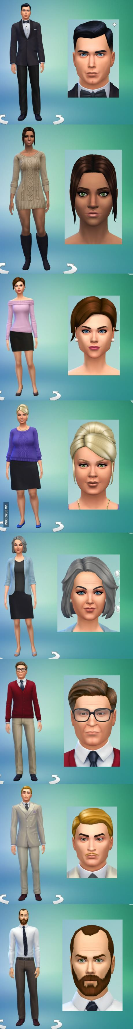 Archer cast done in The Sims 4 character creator
