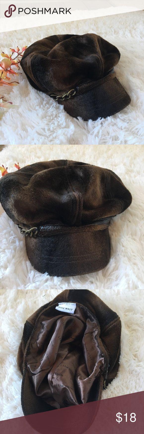 Nine West Faux Fur Paperboy Hat Cap Satin Lined Nine West Faux Fur Paperboy Hat Cap Satin lined Like new Nine West Accessories Hats