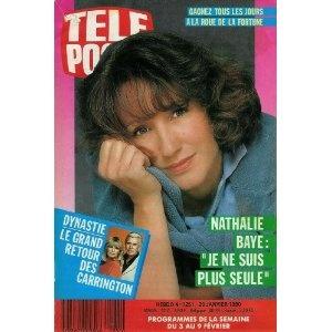 """Nathalie Baye : """"Je ne suis plus seule"""", dans Télé Poche n°1251 du 29/01/1990 [couverture et article mis en vente par Presse-Mémoire]"""