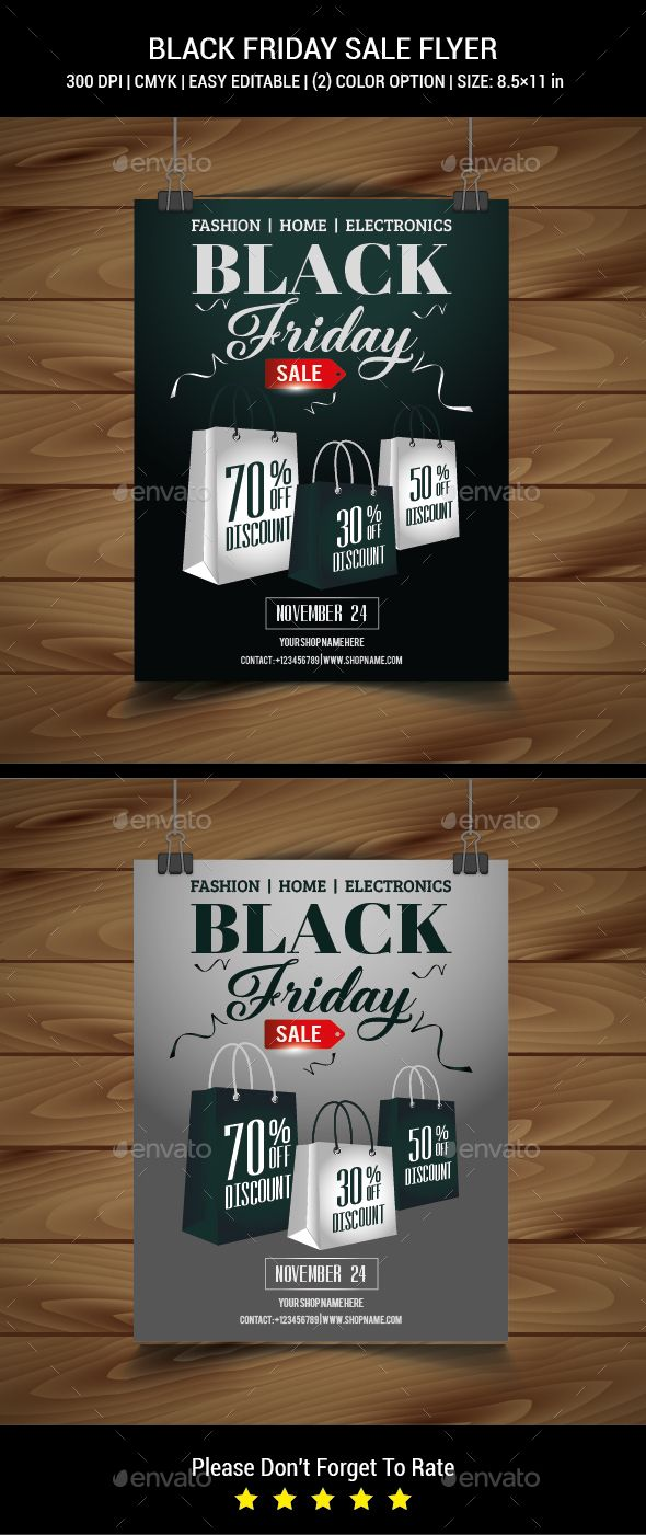 #Black Friday Sale #Flyer - Commerce Flyers