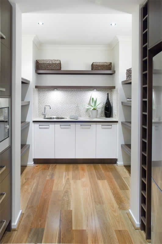 Walk in Pantry with sink, coffee maker etc
