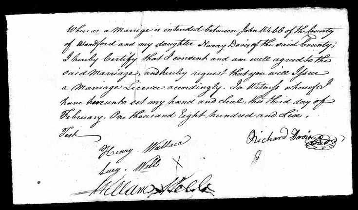 Nancy davis discovered in kentucky county marriages 1783