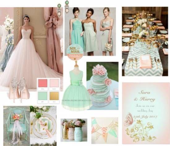 2019 Wedding Trends.2019 Wedding Trends Blush Mint Wedding Theme Trends